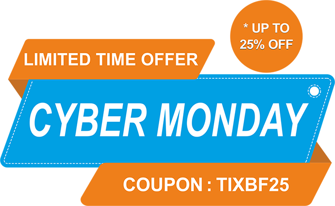 Tixbag's Cyber Monday Special Discount