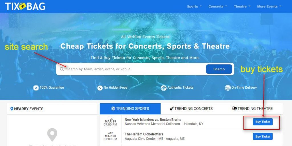 How To Buy Events Tickets Online - 1