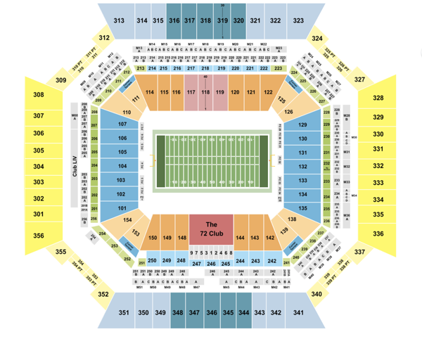 Hard rock stadium seating chart for Super Bowl 2020
